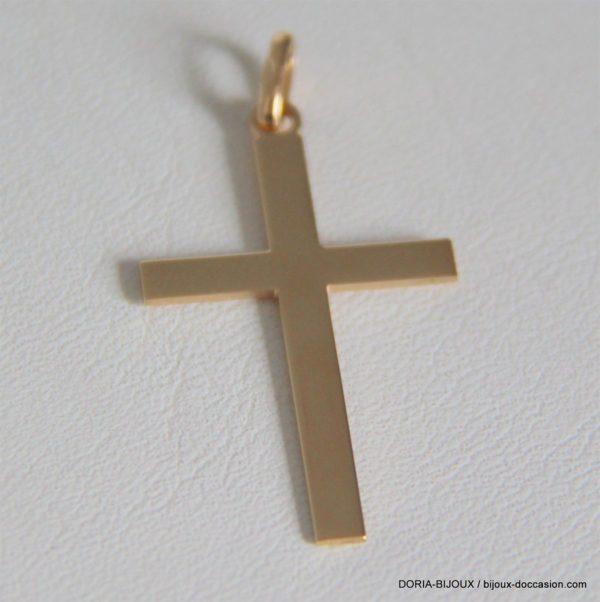 Pendentif or croix or jaune 18k, 750/000- 1.55 grs