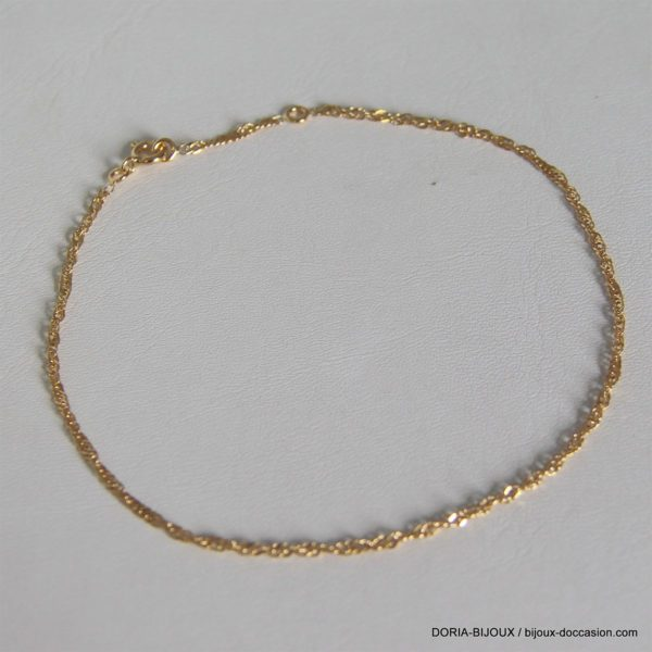 Bracelet rigide 3 anneaux 3 ors 18k- 750 - 11.60grs