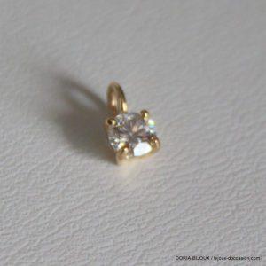 Pendentif  or jaune 0.30 carat