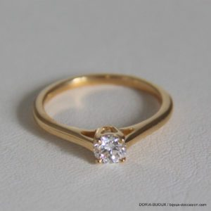 Bague or jaune  solo diamant 0.3 carat no 52 2.57grs