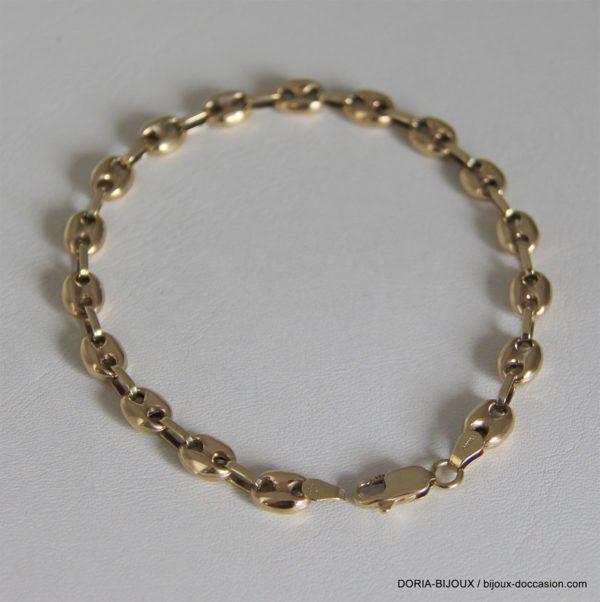 bracelet or 18K 750/000 10.05 grs maille café