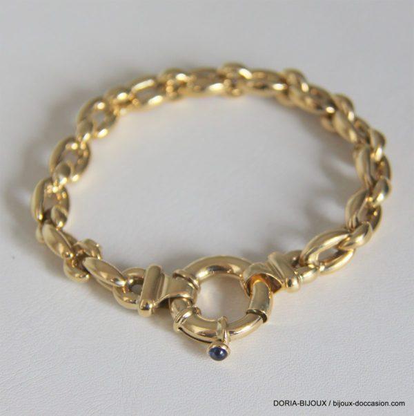 bracelet or 18K 750/000 25.30 grs maille jaseron
