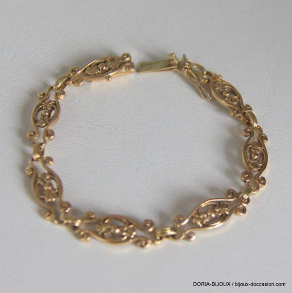 bracelet or 18K 750/000 14.22 grs maille vintage