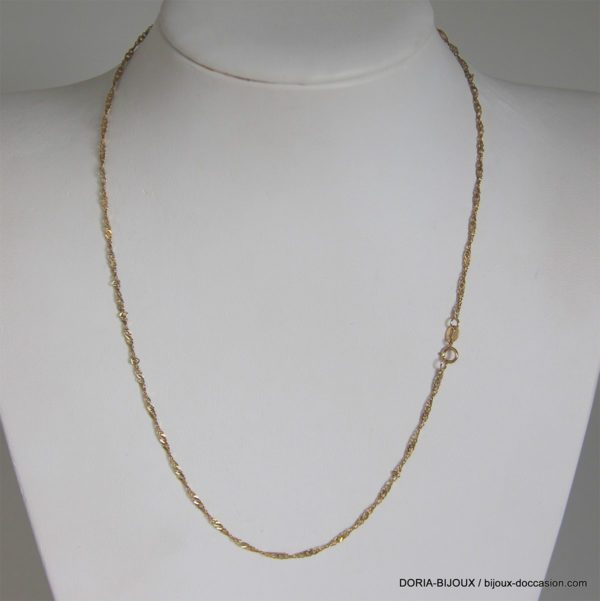 Chaine or 18k 750/000 1.46grs maille fantaisie