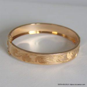 Bracelet or jaune 18k 750/000 rigige vintage
