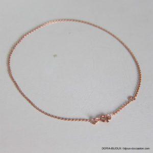 Chaine de cheville or rose - 1.65grs