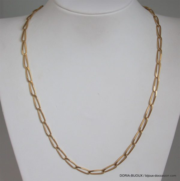 Chaine Or 18k 750 Maille Cheval 17.20grs -48cm-