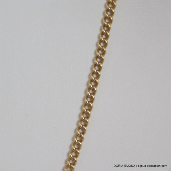 Chaine Or 750 18k Maille Gourmette 42cm -13.5gr