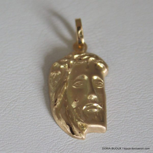Pendentif Christ Or Jaune 18k 750 - 2.15grs