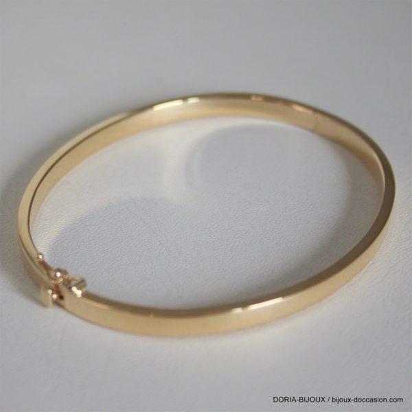Bracelet Jonc Ouvrant Or Jaune 18k 750- 7.85grs