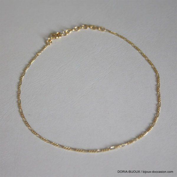 Chaine De Cheville Or Jaune 18k 750 - 1.95grs