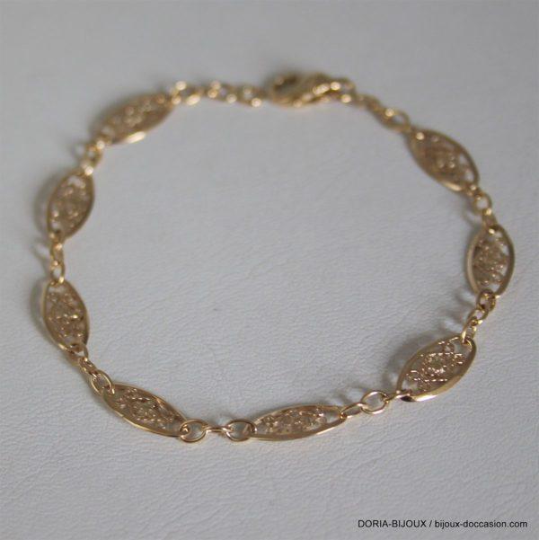 Bracelet Or 18k, 750 Maille Filigrane - 4.65grs
