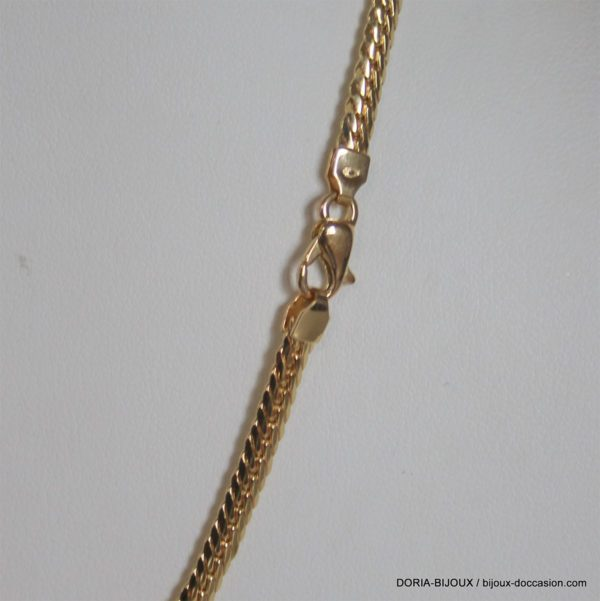 Collier Or 18k 750 Chute Maille Anglaise -45cm-13grs