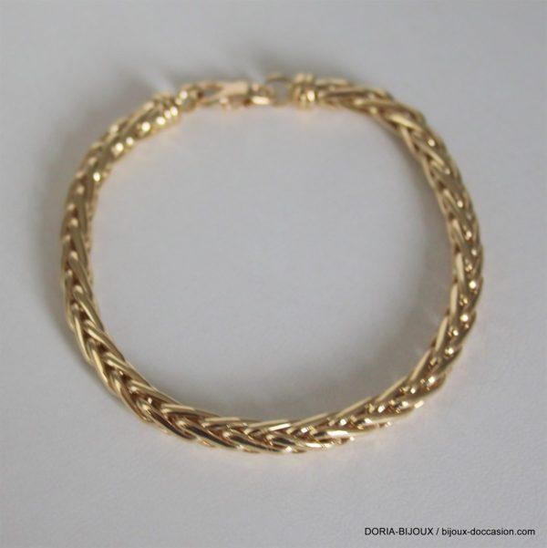 Bracelet Or 18k 750 Maille Palmier - 11.20 Grs