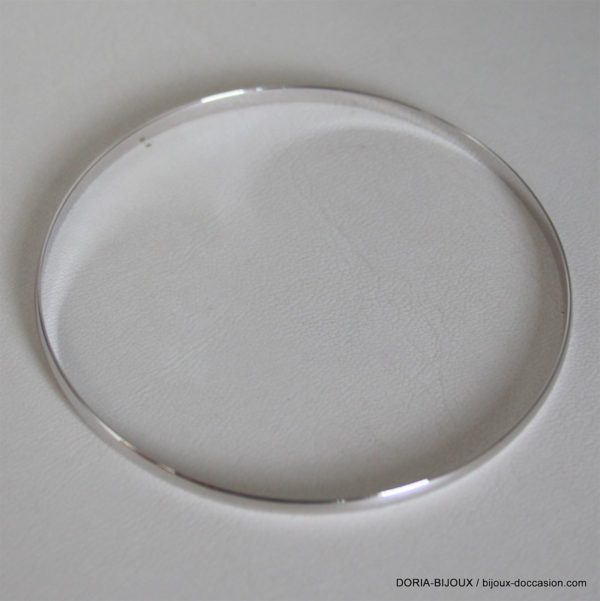 Bracelet Demi Jonc Or Gris 18k 750 -63mm- 6.55grs