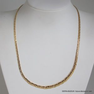Collier Or 750  Maille Haricot Chute- 10.85grs