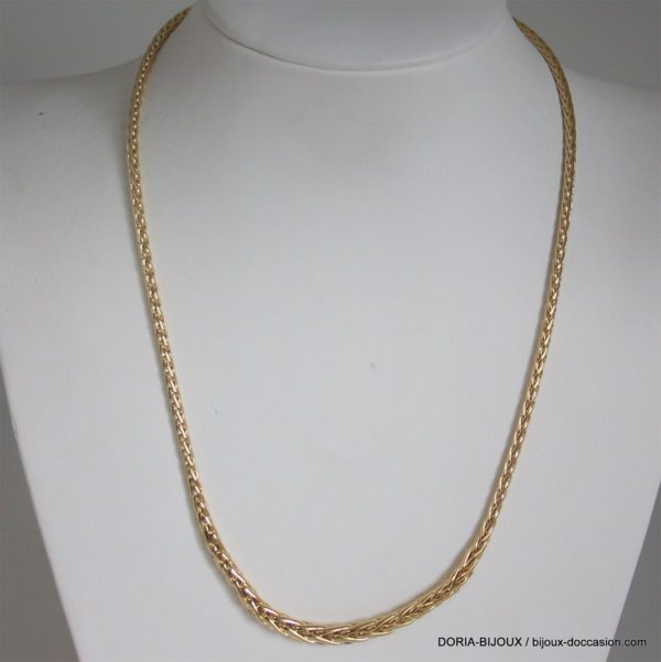 Collier Or 750 Maille Palmier Chute - 11.45grs