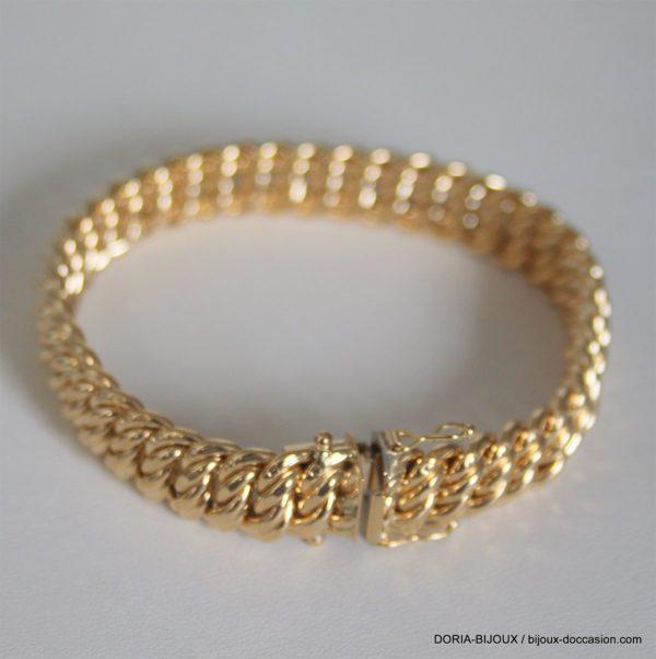 Bracelet Or 18k 750 Maille Americaine 20.50grs -19cm
