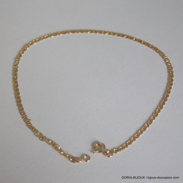 Chaine De Cheville Or 750 - 3.40grs- 25cm