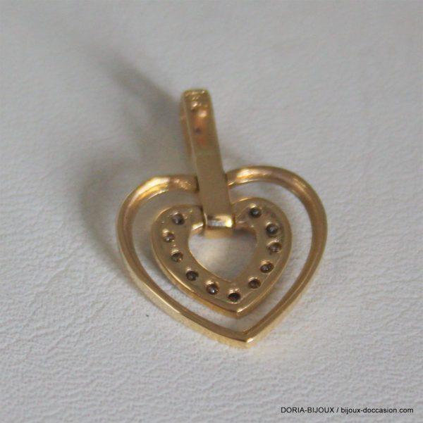 Pendentif Coeur Or 750 Diamants - 2.25grs