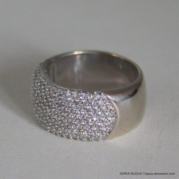 Bague Or Bicolore 18k Diamants - 16grs- 57