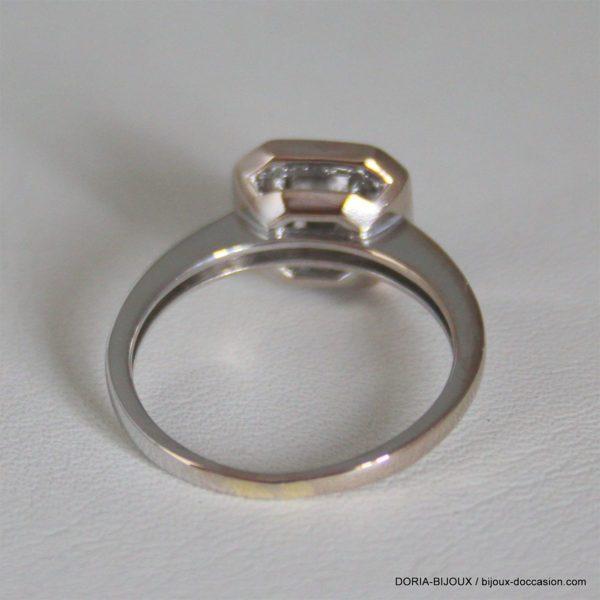 Bague Or Bicolore 18k Diamants - 4.3grs- 57