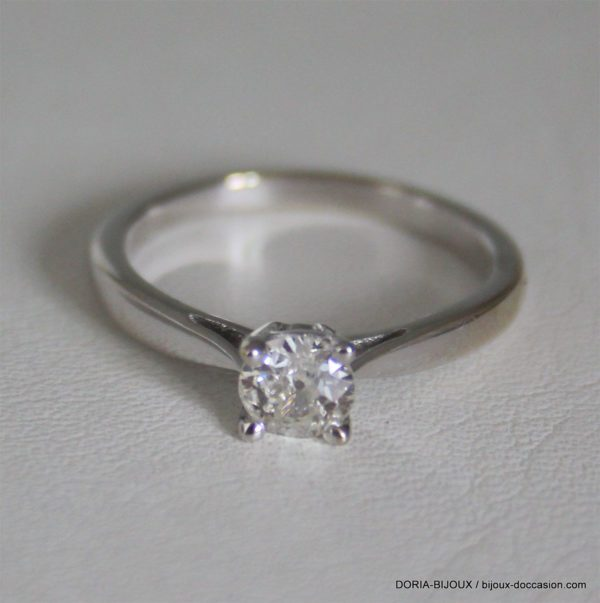 Bague Or 750 Solitaire Diamant 0.45cts -3.05grs