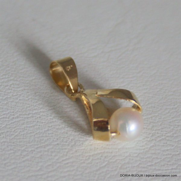 Pendentif Or 18k 750 Perle 1.3grs