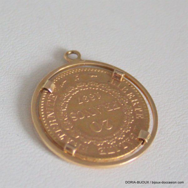 Pendentif Porte Piece Or 750 + Piece Or Souverain
