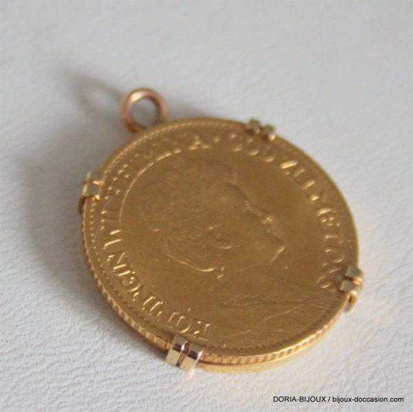 Pendentif Porte Piece Or 750 + Piece Or 10 Florain -