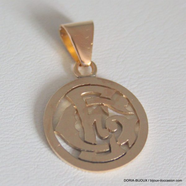 "Medaille Or Initiale ""GE"" - 4.3grs"