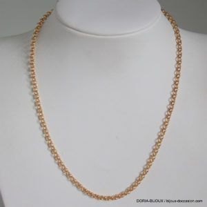 Chaine Or 18k 750 Maille Fantaisie 5grs -40cm-