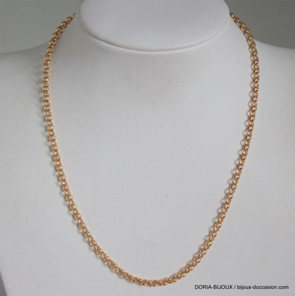 Chaine Or 18k 750 Maille Fantaisie 5grs -40cm-