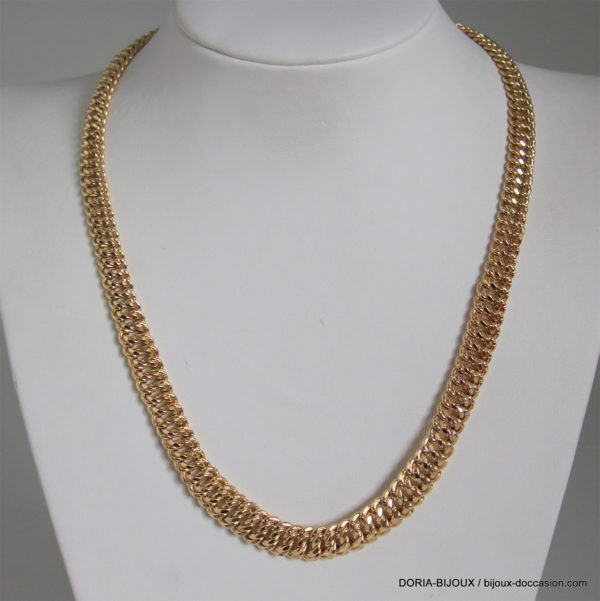 Collier Maille Americaine Chute Or 18k 750 - 24.8grs