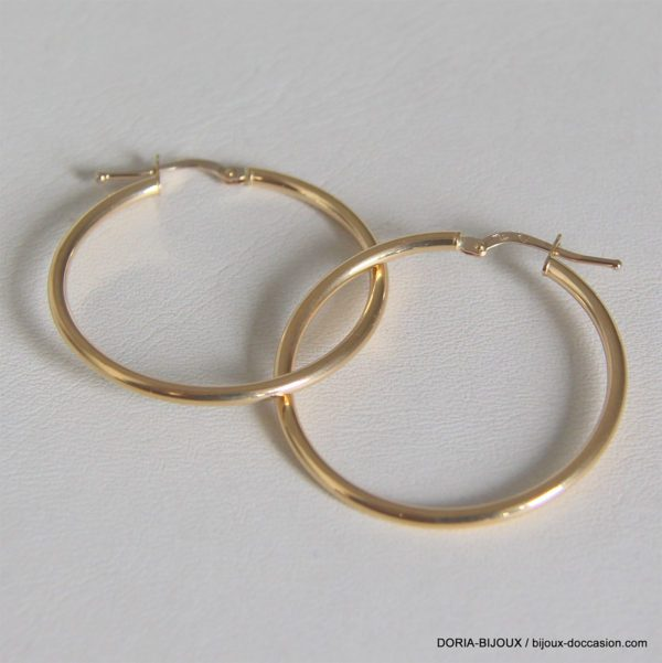 Creoles Lisses Or Jaune 18k 750 - 1.75grs