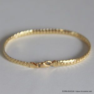 Bracelet Or 18k, 750 Maille Anglaise -18cm -6.45 Grs