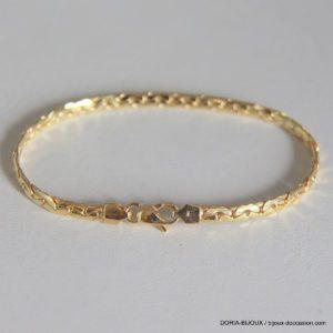 Bracelet Or 18k 750 Maille Haricot - 6.05grs - 18cm