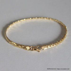 Bracelet Or 18k 750 Maille Haricot - 5.90grs - 19cm