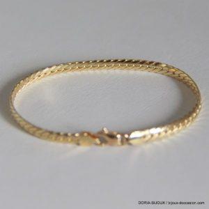 Bracelet Or 18k, 750 Maille Anglaise -18cm -6.45 Grs