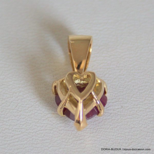 Pendentif Or 18 Carats 3,00 Grs Rubis
