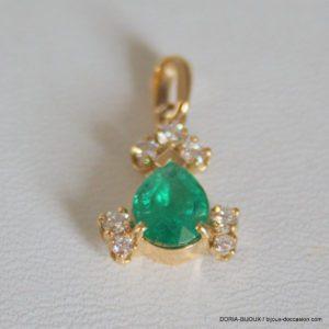 Pendentifs Or 18k 750 Emeraudes & Diamants