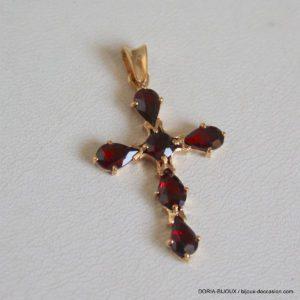 Croix Or 18 Carats 2,44 Grs 6 Améthyste De De 0,20