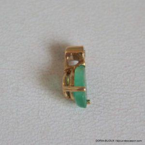 Pendentif Or 18 Carats 0,34 Grs Émeraude 0,22 Carats