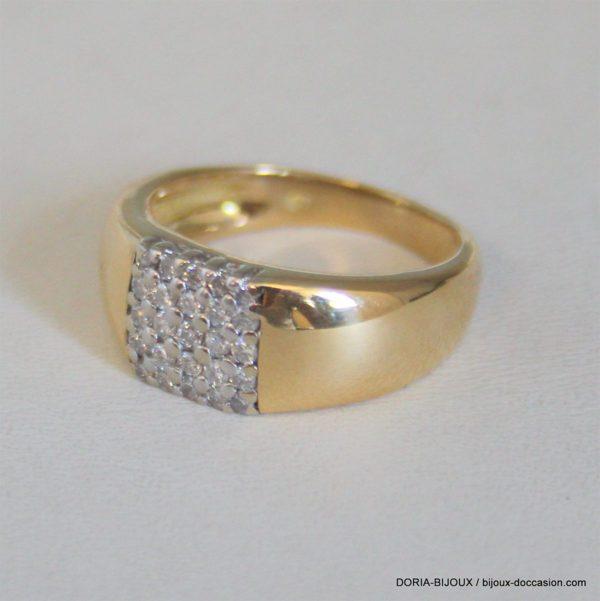 Bague Or 18 Carats 7,05grs Diamant