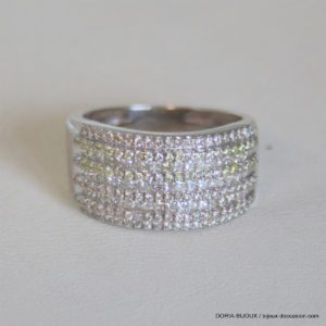 Bague Or Blanc 18 Carats 6,91 Grs Diamant 2.40 Carat