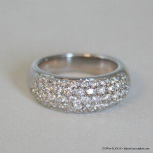 Bague Or Blanc 18 Carats 11,59 Grs Diamant 1.30ct