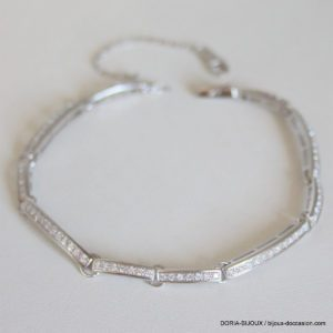 Bracelet Or Blanc 13,04 Grs Diamants 1,45 Carats