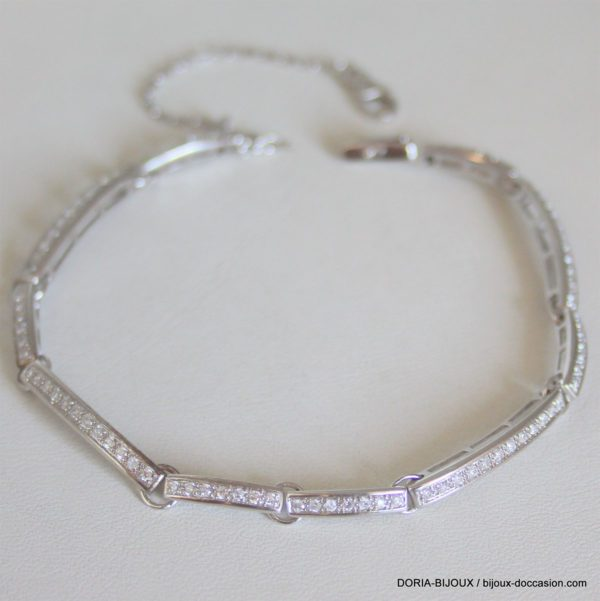 Bracelet Or Blanc 13,04 Grs Diamants 1,45 Carats