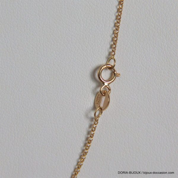 Chaine Or 18k 750 Maille Forçat Ronde 1.7grs -41cm-