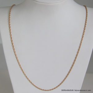 Chaine Or Gris 18k 750  Maille Torsade 7.9grs -65cm